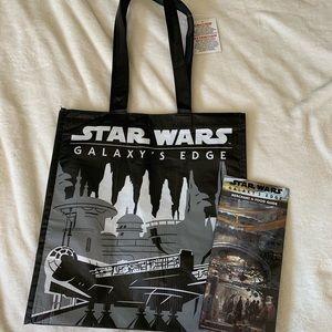 Brand New Disneyland Star Wars Reusable Bag w/map